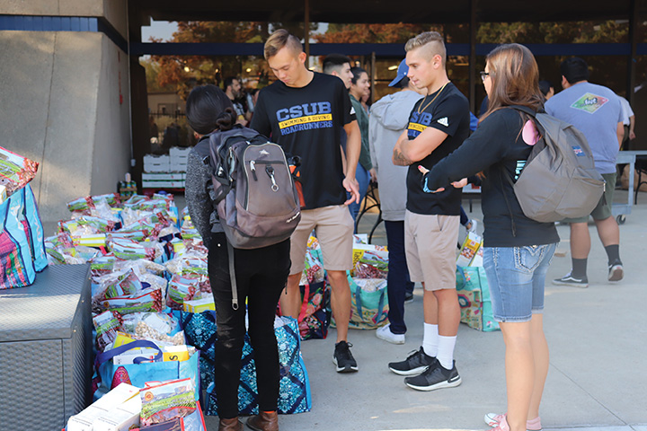 As many as 15 student volunteers participated in the food distribution on Nov. 18, 2019.
