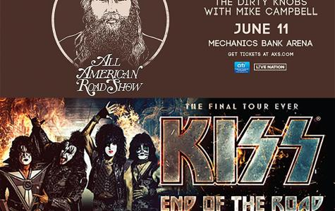 Tour posters for the Mechanics Bank Arena performances were obtained from the websites of Mechanics Bank Arena and 98.5 The Fox.