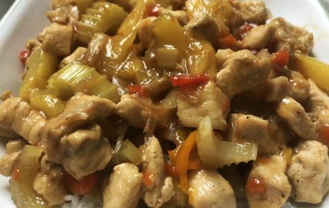 This sweet chicken dish is a great way to use up some old produce!