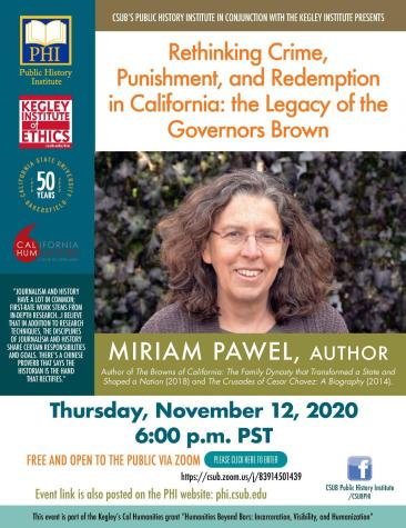 Preview: The legacy of the Governers Brown: A webinar with Miriam Pawel