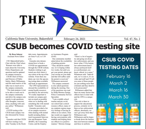 Latest Issue: CSUB to become COVID testing site and plans for fall 2021 underway