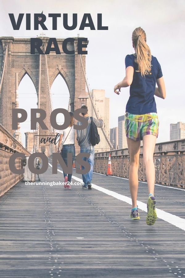 Girl running in NY for Virtual Race Pros and Cons