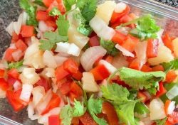 homemade pineapple salsa