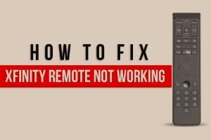 fix xfinity remote not working