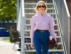 Jeans are a thing. Pair with a billowy button up shirt for a too-cool-for-school getup. PC: Vogue