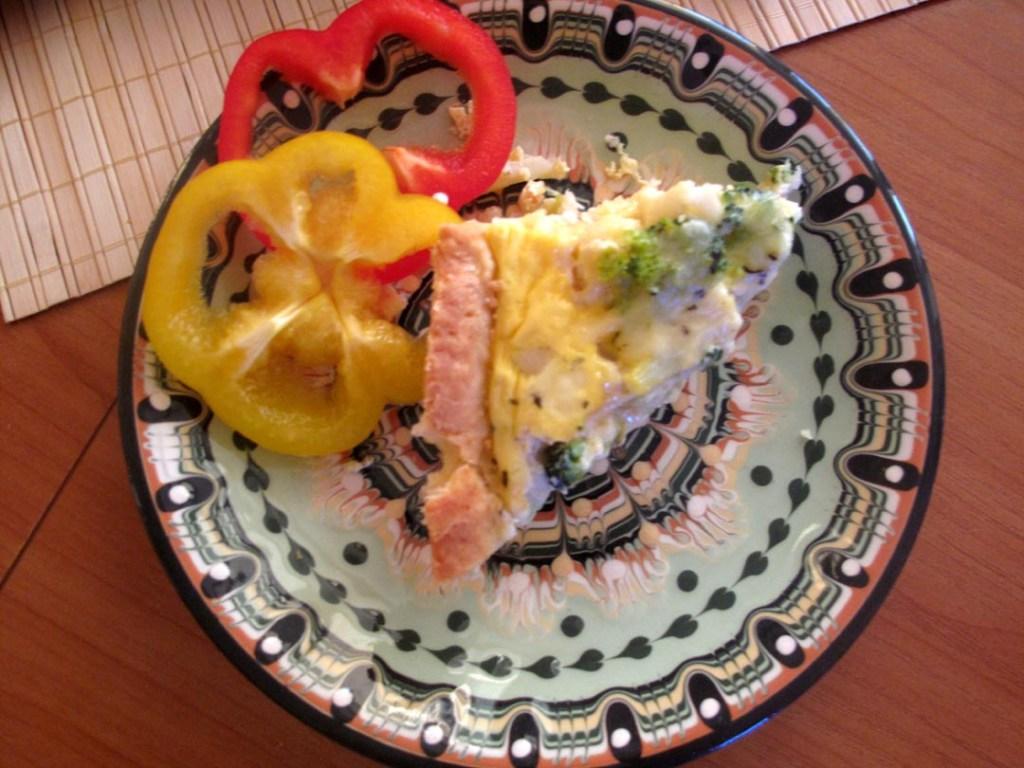Tart on the plate