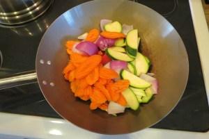 Vegetables in the skillet