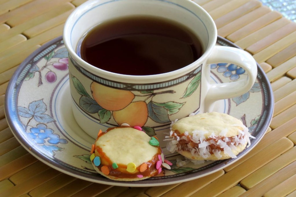 having cookies with tea