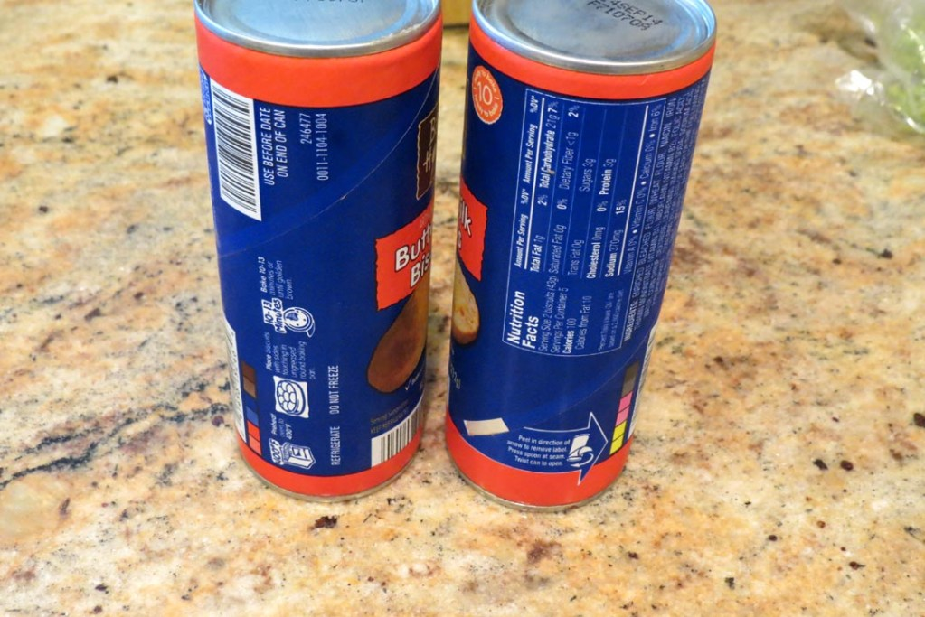Two bisquits cans