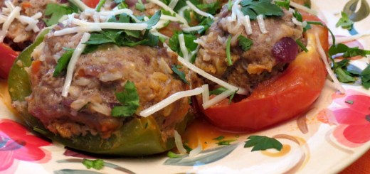 stuffed tomatoes with bell peppers