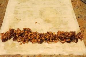 filling baklava