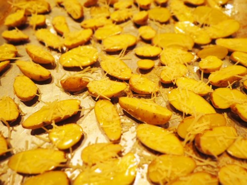 parmesan covered potatoes