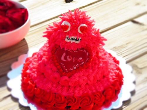 valentine's monster cake
