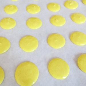 macaroons before baking