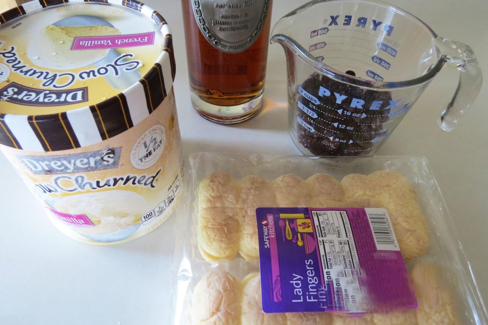 ingredients-for-rum-and-raisin-dessert