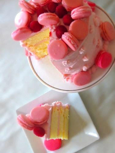 slice of the lemon cake