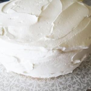applying whipped cream