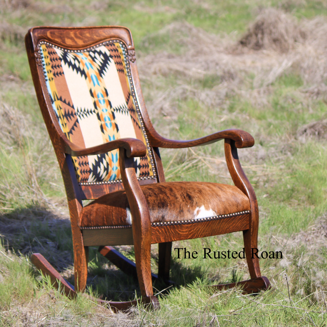 Sensational Sold Vintage Tiger Oak Rocking Chair The Rusted Roan Machost Co Dining Chair Design Ideas Machostcouk