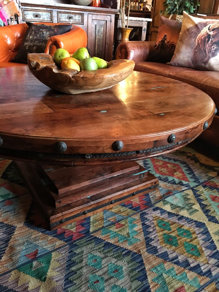 17 round mesquite coffee table with