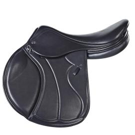 """Italiano – My first thought when I saw this saddle was I must have one!"""" It's gorgeous. The Italiano combines the panache of Italian designers with the skill and craftsmanship from Harry Dabbs saddle makers. Sleek and stylish, it will enable the rider to achieve a close contact and a perfect jump position. Italian calf leather is standard on this luxury saddle. Black, Havana and Autumn Gold currently available."""