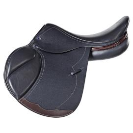 Future – built on the Harry Dabbs DJ tree (see above), this saddle features the Future panel, which is cut back under the rider's knee, liberating the horse's tricep for greater stride length and freedom of movement. Mine is chestnut in color, with oh-so-soft Paris leather.