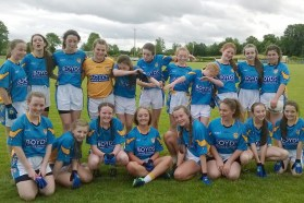 John Moneyglass U14 girls won both of their games yday which guarantees them a slot in the Cup QF this afternoon! First match v Wolfe Tones (Co. Clare) First half: Goals from Hannah Murray, Maria O'Neill and Nicole Cassidy. Points from Ciara Scullin, Nicole Cassidy Second Half: Goals from Cliona Griffin, Hannah Murray. Points from Ciara Scullin, Maria O'Neill and Aoife Kelly. Penalty against us in the 19th mins. Final score 7-9 to 1-0. Sarah Mc Cann Second match v Knockninny (Co. Fermanagh)