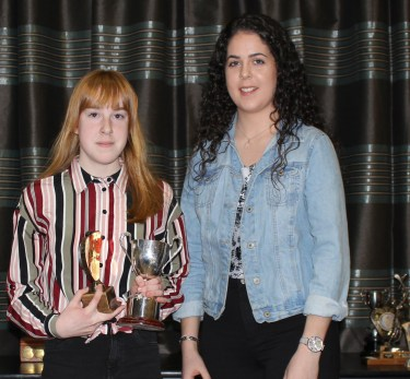 U12 POY Aoife McMullan and Louise McKillop