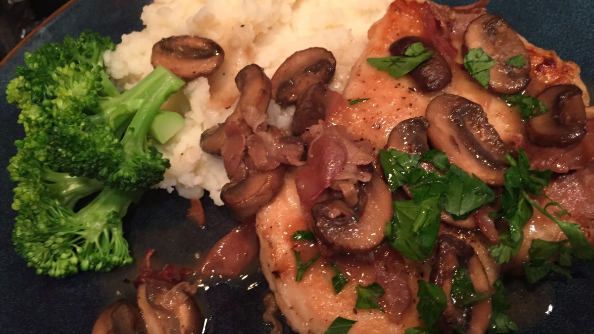 Chicken marsala- sounds like masala but so much different