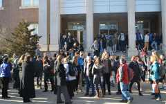Teachers hold demonstration in response to contract negotiation impasse