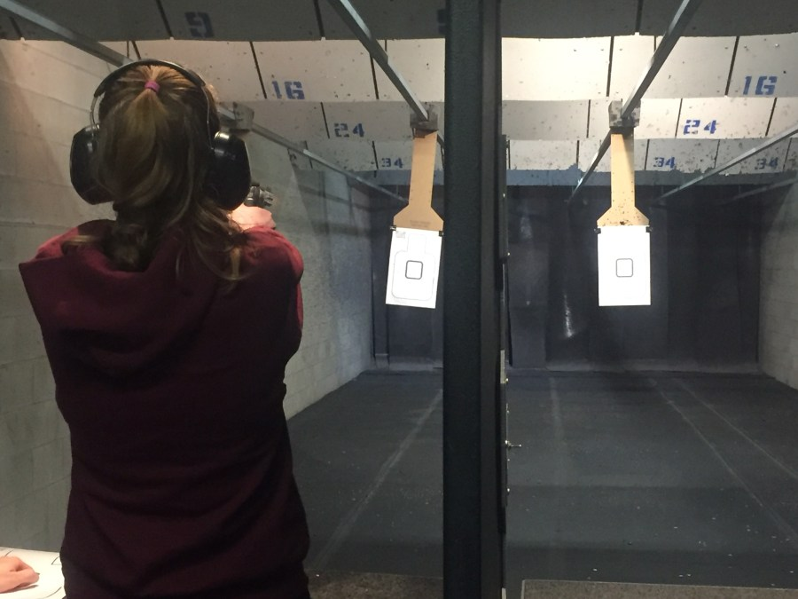 A+Sagamore+reporter+shooting+in+the+range+at+Mass+Firearms.+Anyone+may+shoot+with+an+instructor%2C+regardless+of+age%2C+without+a+license.+