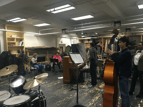 Novice jazz band group develops musical skills