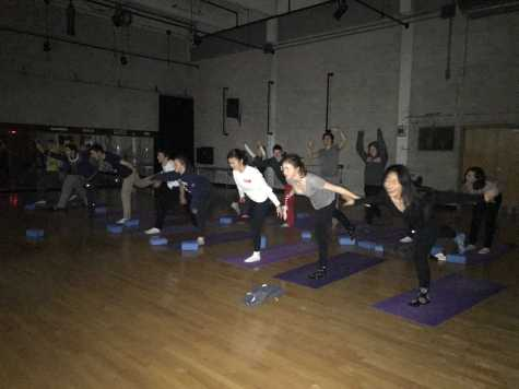 Teams combat stress through yoga