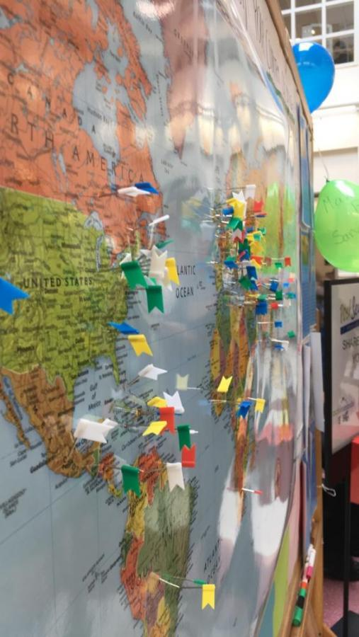 During+the+%22Day+without+Immigrants%2C%22+students+placed+flags+on+a+map+in+the+atrium+to+mark+their+countries+of+origins.+According+to+junior+Vicka+Ter-Ovanesyan%2C+who+helped+organize+the+day%2C+the+map+aims+to+demonstrate+the+%22we+are+all+immigrants%22+idea.%0AContributed+by+Vicka+Ter-Ovanesyan