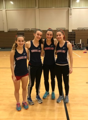 Girls indoor track relay breaks school record