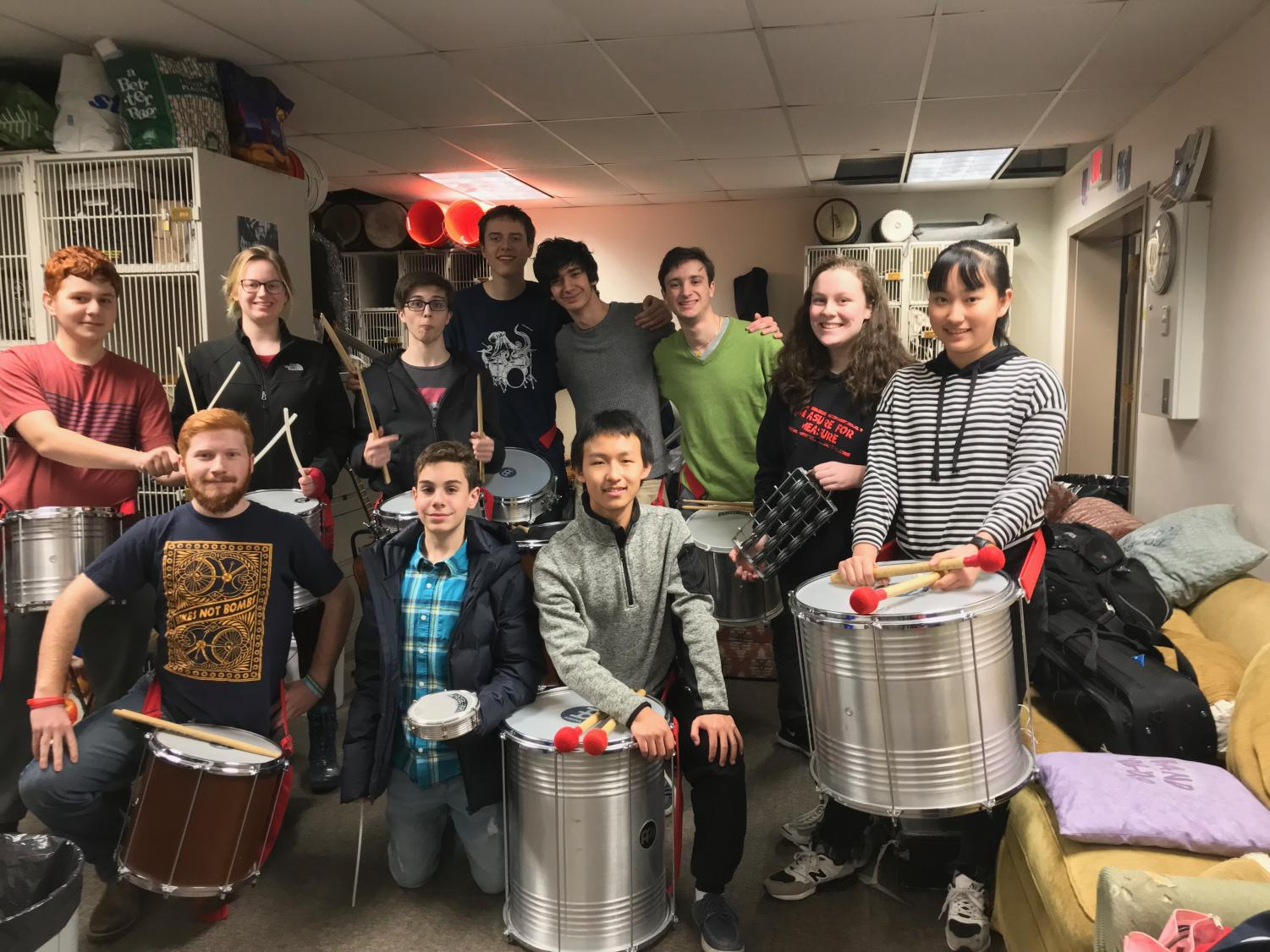 Members of the Samba Drumming club are well-known for their school performances. Club members say that the music brings them closer together.