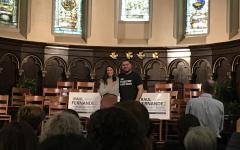 Congresswoman Alexandria Ocasio-Cortez and Select Board candidate Raul Fernandez emphasize importance of voting