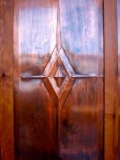 Copper panel detail.