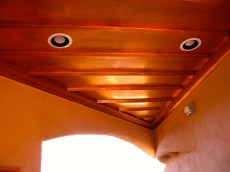 Copper ceiling in Breezeway.