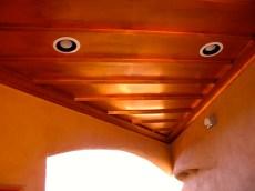 Copper ceiling in Breezeway.