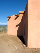 West wall with copper canales.