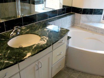 Master Bathroom vanity with granite counter.