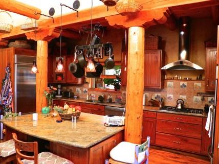 Post and Beam around the Kitchen.