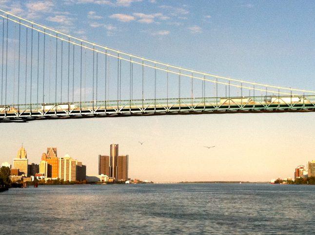 Ambassador Bridge to Canada.
