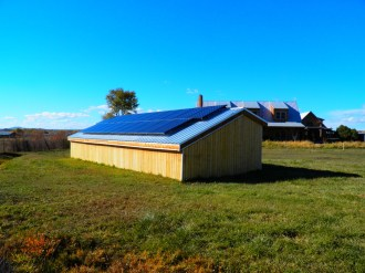 Donkey Shed with solar panels.