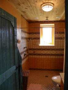 Custom tile in Guest Room bathroom.