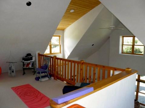 Second floor sitting area overlooking the Great Room.