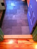 Slate floor in 1st floor bathroom.