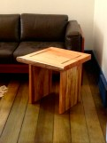 Side table, Willow top with Spalted Maple legs.