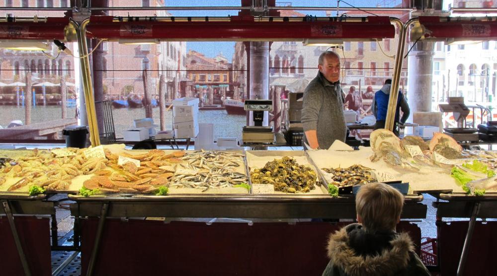 Venedig mit Kindern - Fischmarkt