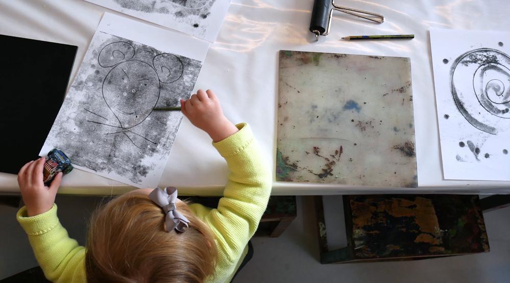 das neue Kinderkunsthaus - Zeichnen